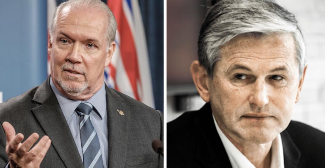 Horgan, Wilkinson trade insults during radio debate on Thursday