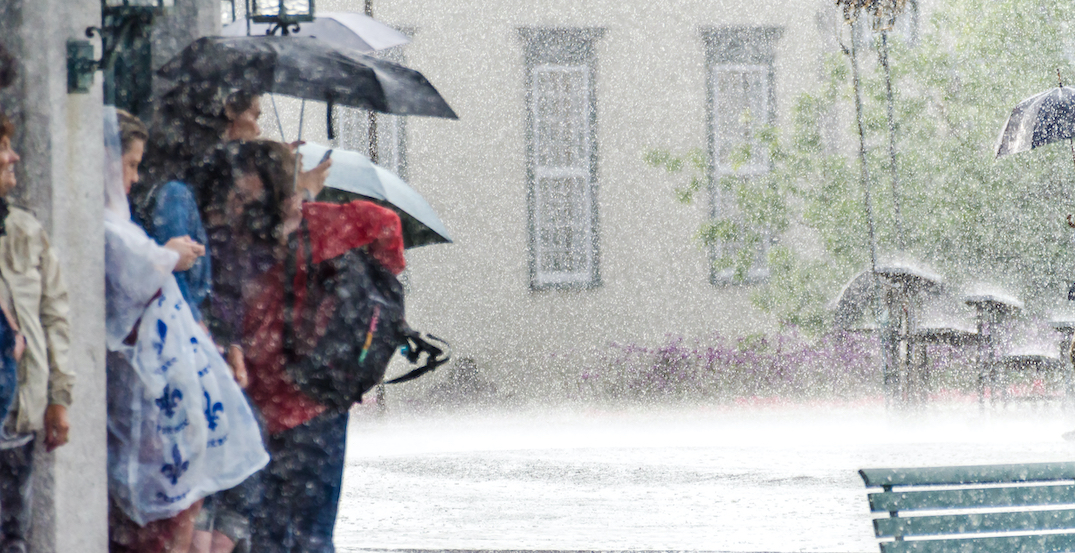Parts of Quebec could get up to 60 millimetres of rain today
