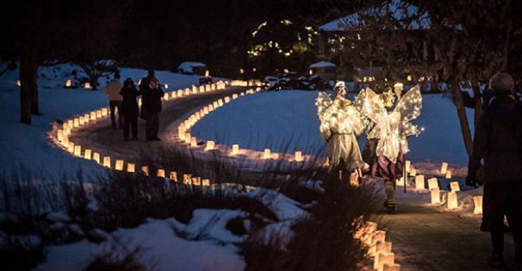 This candle-lit garden walk is a can't miss this holiday season