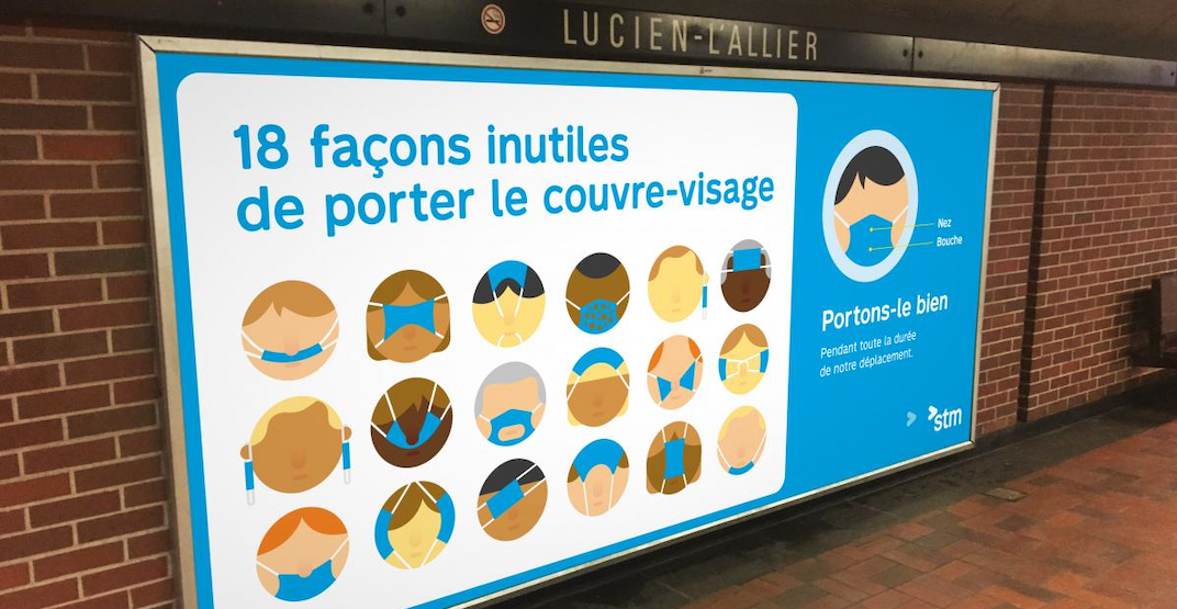 STM launches new campaign aimed at riders who don't wear masks properly