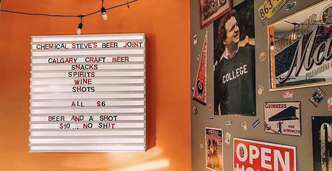 Chemical Steve's Beer Joint just opened in Calgary