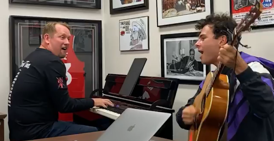 Raptors coach Nick Nurse holds jam session with Arkells frontman (VIDEO)
