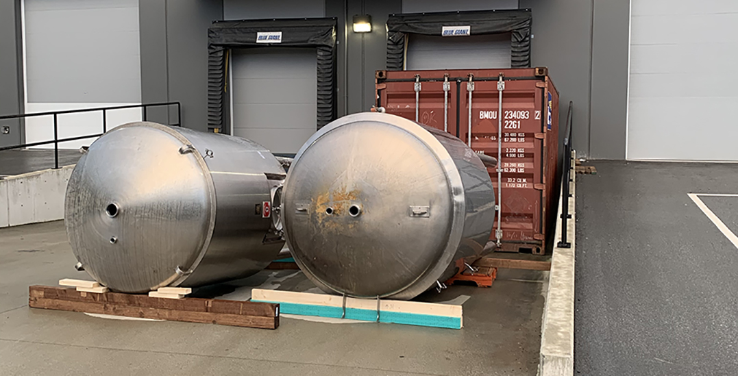 Two massive tanks stolen from Metro Vancouver brewery