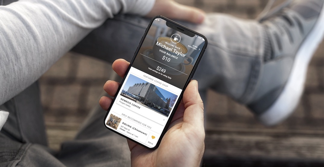 """New local coffee app """"Siply"""" launches today in Vancouver"""