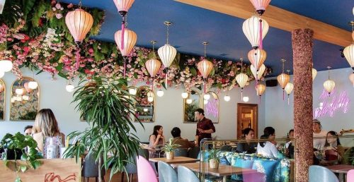 People are living for this Vancouver restaurant's floral throne (PHOTOS)   Dished