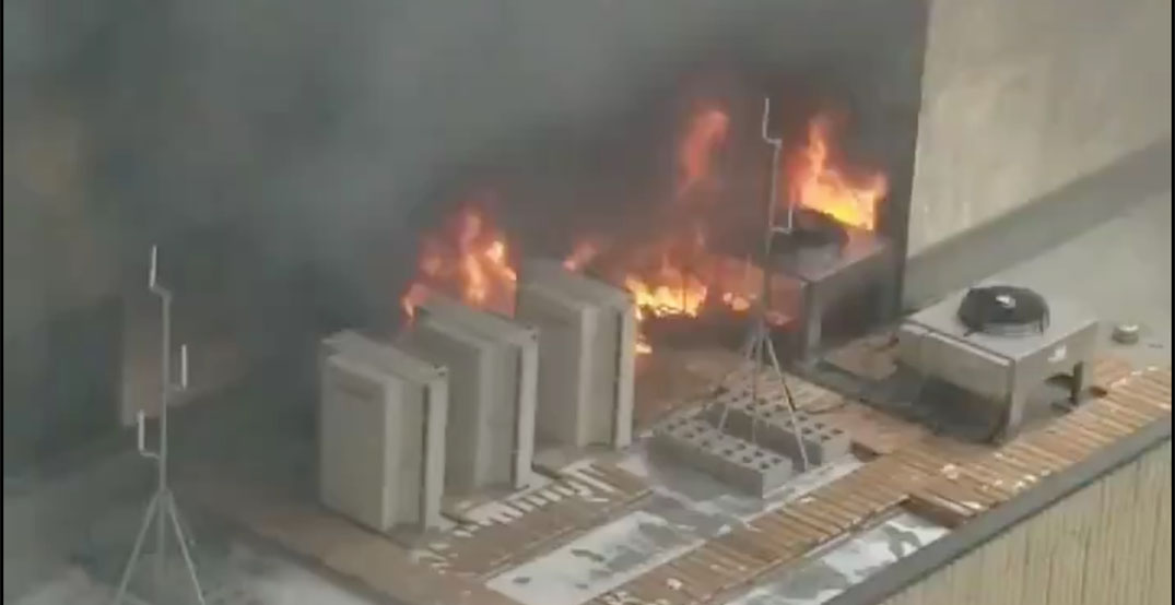 Fire breaks out at downtown Edmonton building (VIDEO)