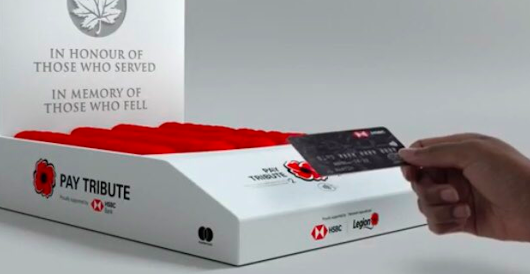 Some Remembrance Day poppy boxes will take tap payments this year