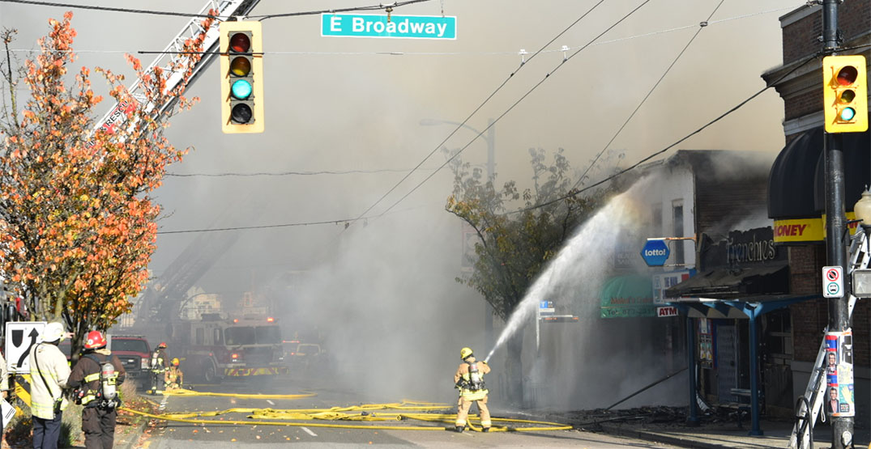 Main Broadway fire