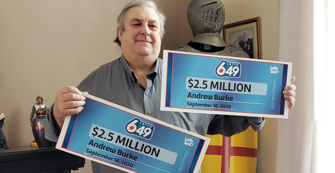 An Alberta man just won a $2.5 million lottery jackpot... twice