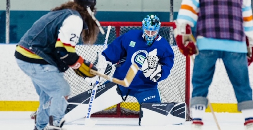 On The Bench boys drive 12 hours for Elias Pettersson's goaltending debut