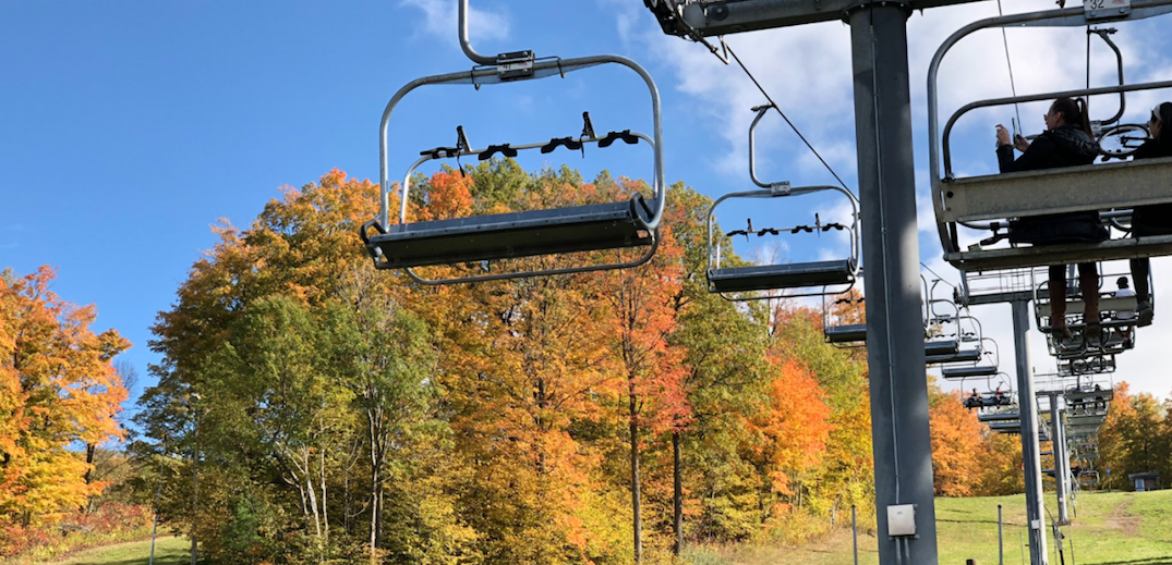 Check out the fall foliage from a ski lift just outside of Toronto