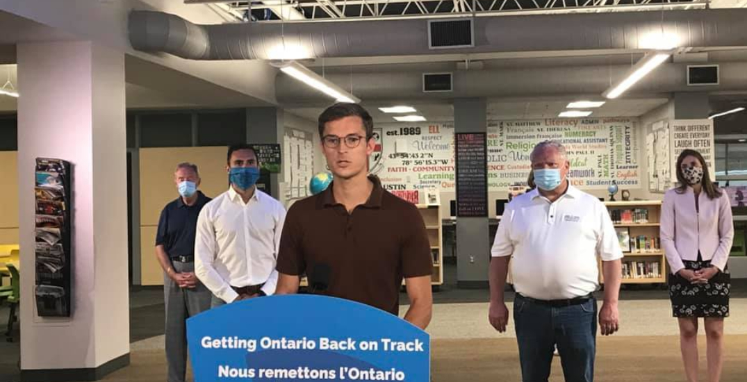 """""""Everyone makes mistakes"""" says Ford on Niagara MPP pictured without face covering at gathering"""