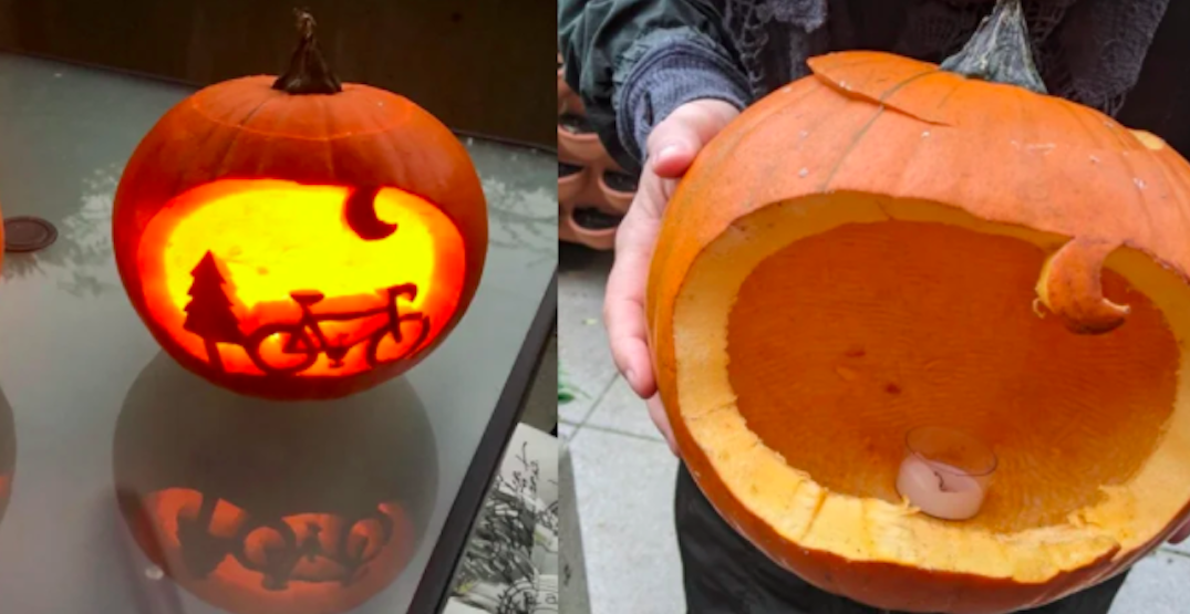 Bike and pumpkin carving of bike separately stolen from same person in Vancouver