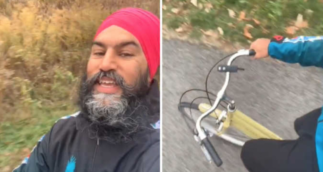 Jagmeet Singh has recreated this viral TikTok trend, but on a bike (VIDEO)