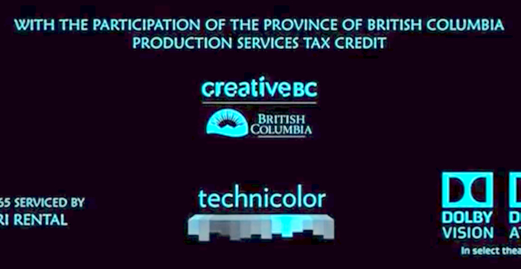 British Columbia's logo will now appear in Hollywood film and television credits