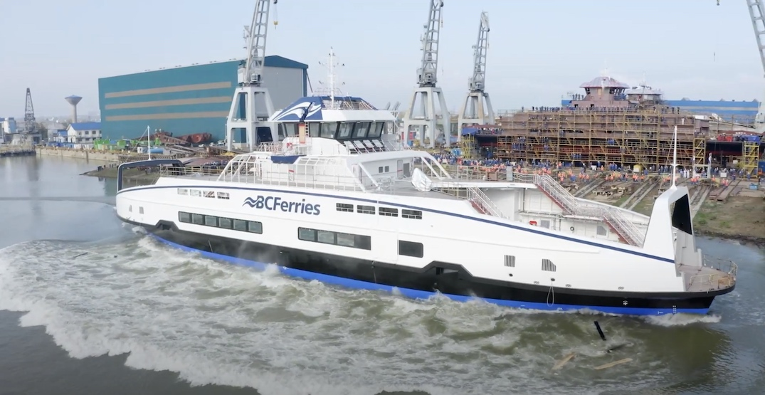 Four additional BC Ferries hybrid electric-battery ships to enter service in 2022
