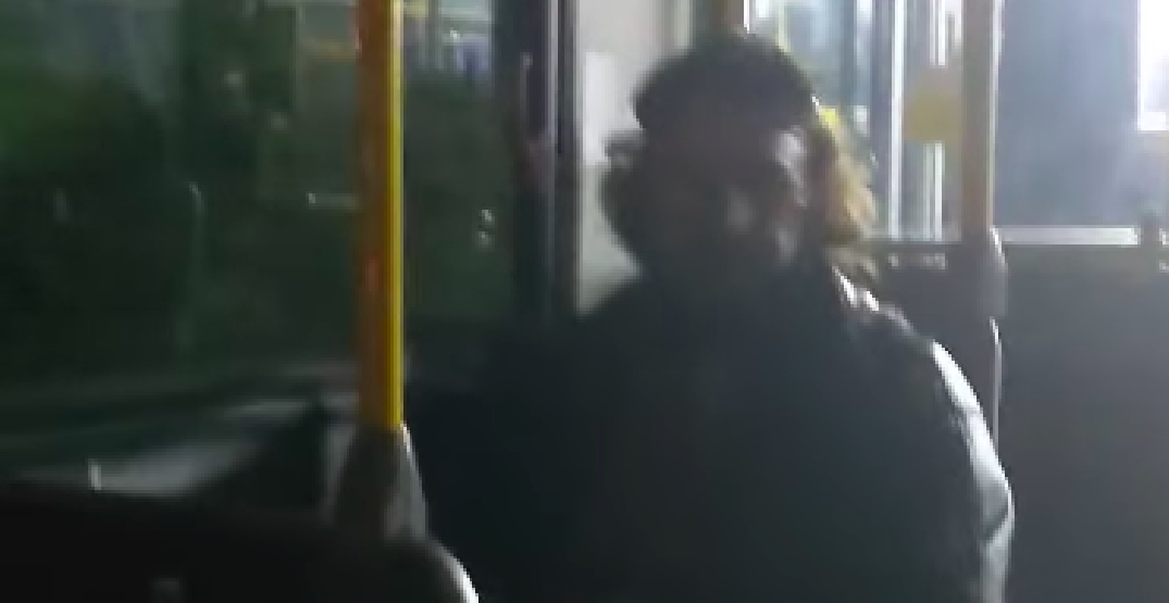 Man threatens, hurls racist insults at Burnaby bus passenger (VIDEO)