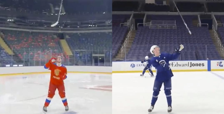 Canucks prospect Podkolzin recreates epic Pettersson trick (VIDEO)