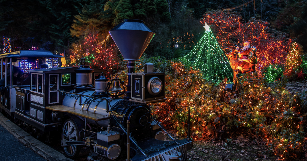 A magical Christmas train with hundreds of holiday lights is coming to Stanley Park this month