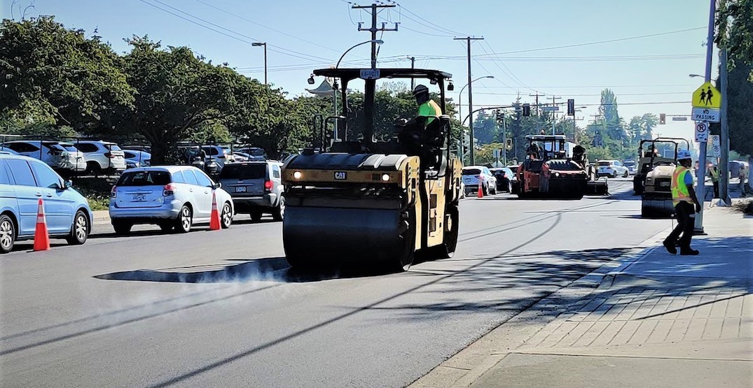 City of Richmond showcases new greener road paving with recycled asphalt