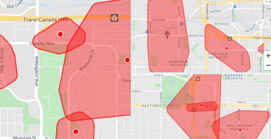 Power outage currently affecting 10,000 people in Vancouver and Burnaby