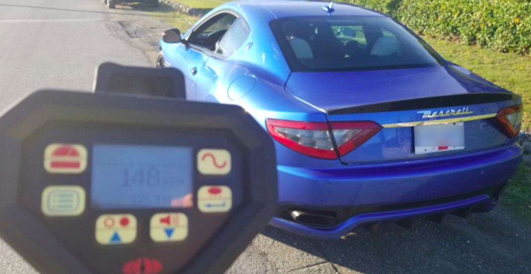 Driver of rented Maserati caught doing 148 km/h in 60 km/h zone in Surrey