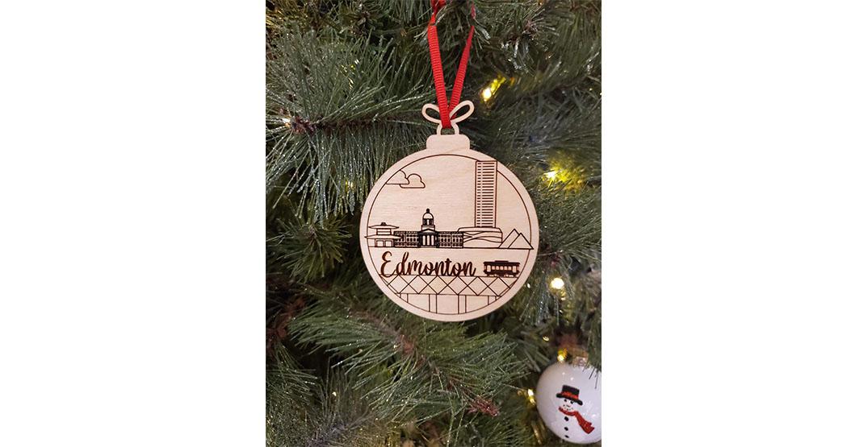 Edmonton Christmas ornament