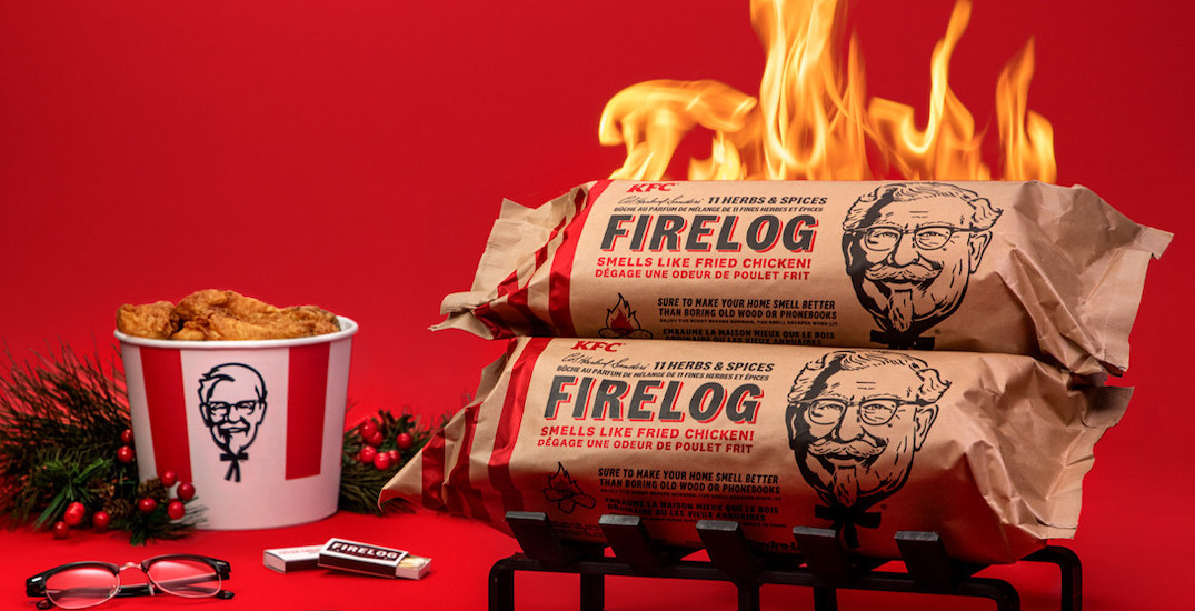 KFC's 11 herbs and spices fire log comes to Canada