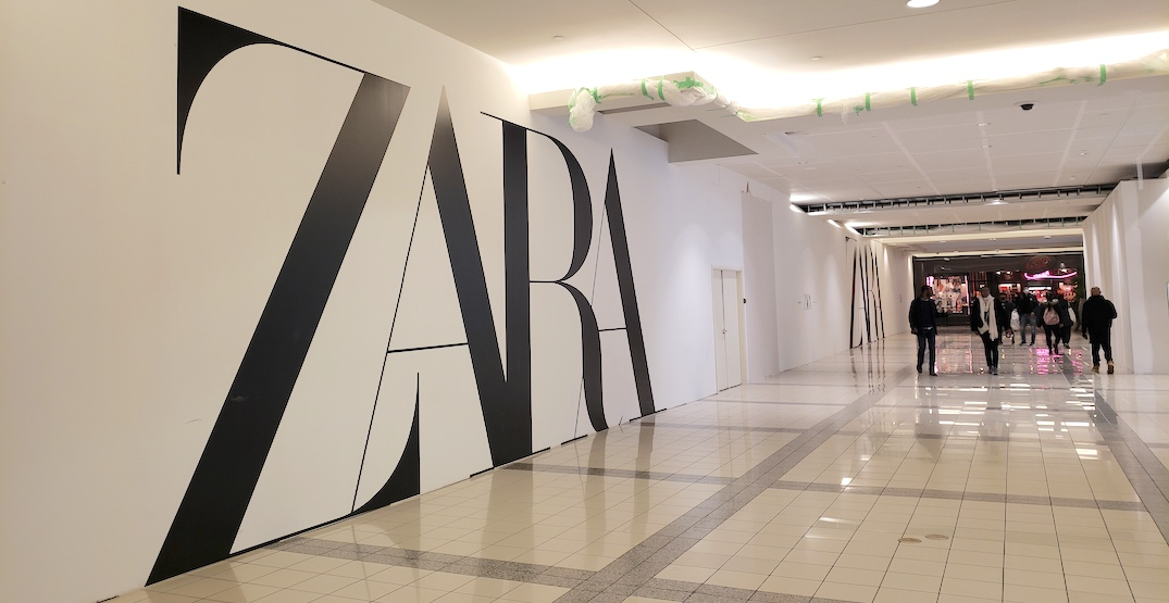 Zara flagship store at Metrotown to more than double in size to 40,000 sq. ft.