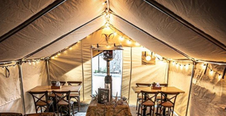 Toronto restaurant opens hunt camp-inspired patio