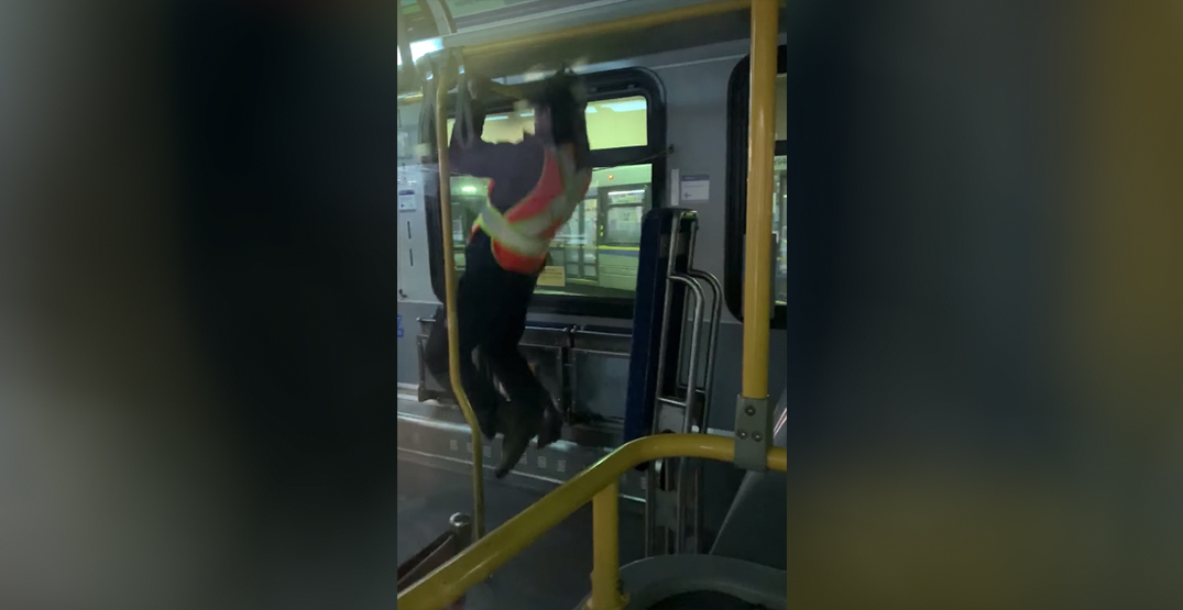 TransLink bus driver allegedly didn't let riders board so that he can do pull ups