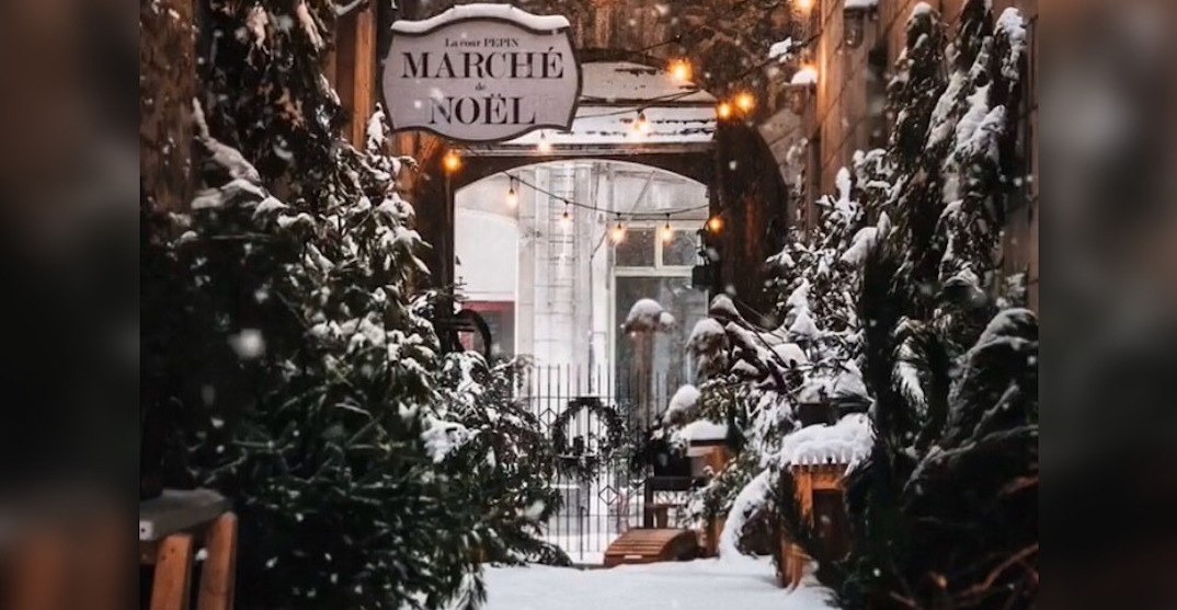 This Old Montreal alleyway is transforming into a rustic Christmas market