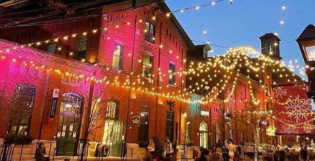 Mini dining chalets are popping up at the Distillery District this month