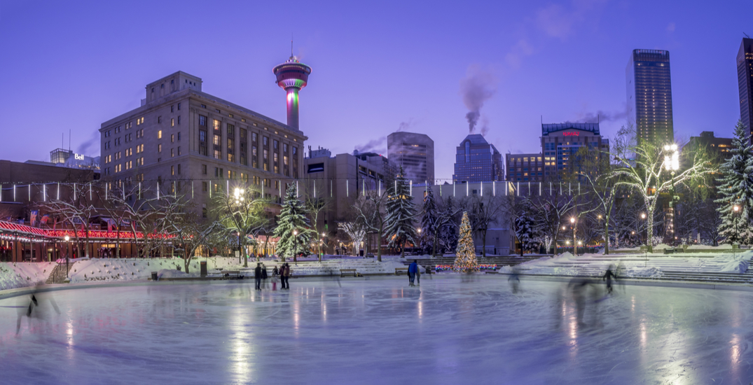 Olympic Plaza's outdoor skating rink is now open for the 2020/2021 season