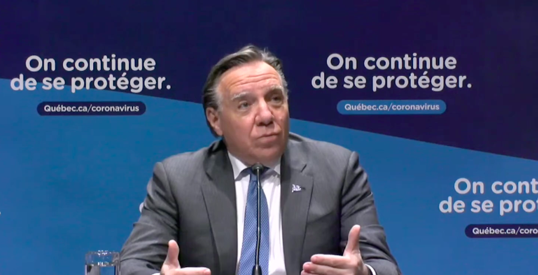 Legault says Quebec has reached a new COVID-19 plateau