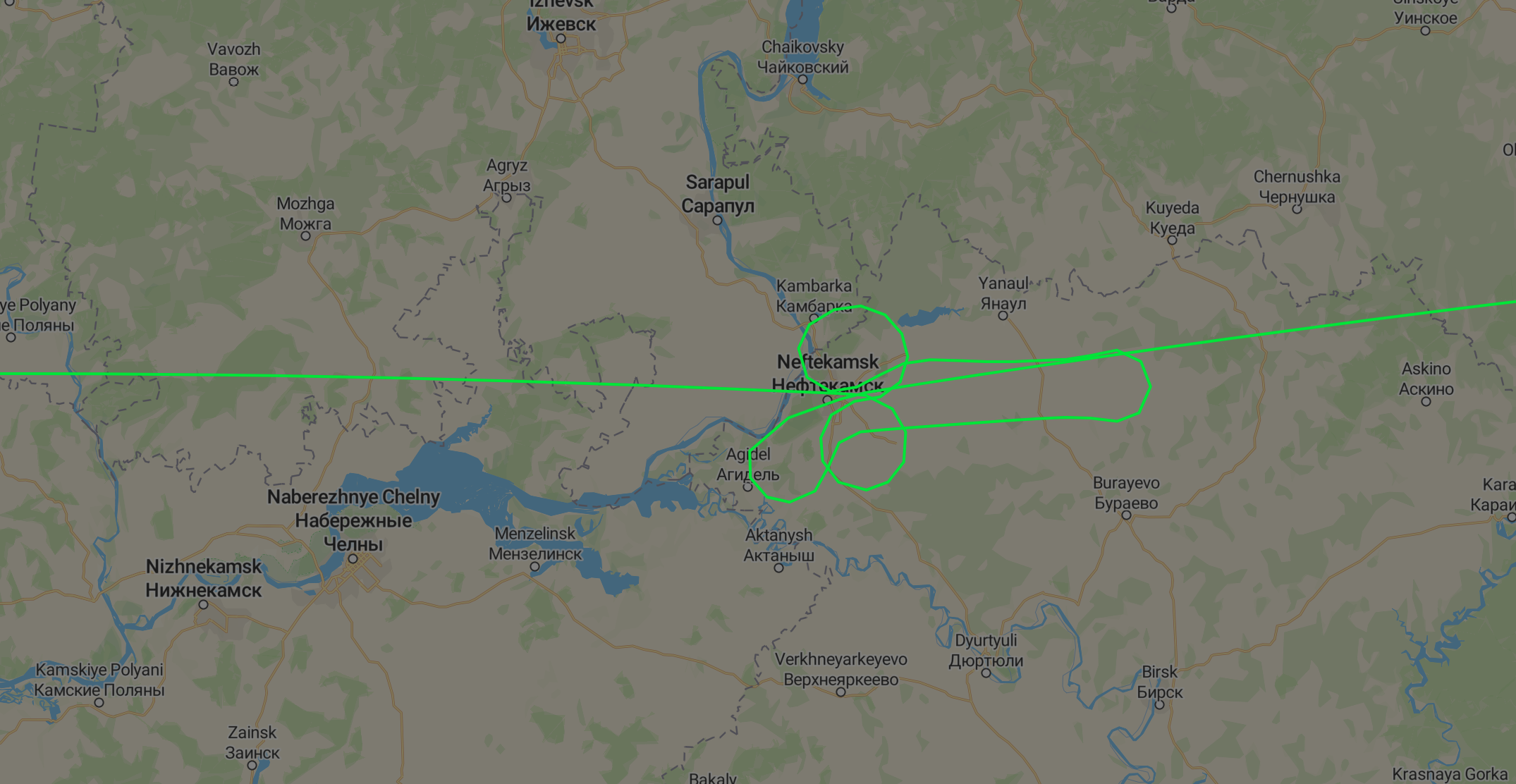 Russian flight traces penis-shaped pattern in the sky