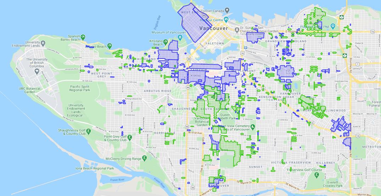 vancouver parking permit map