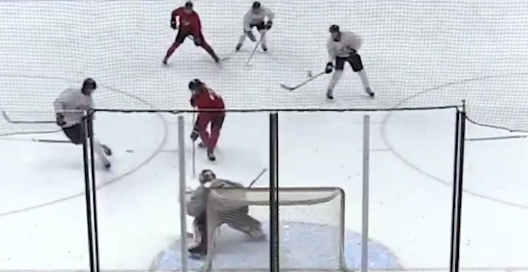 Kick pass leads to highlight reel goal at World Juniors camp (VIDEO)