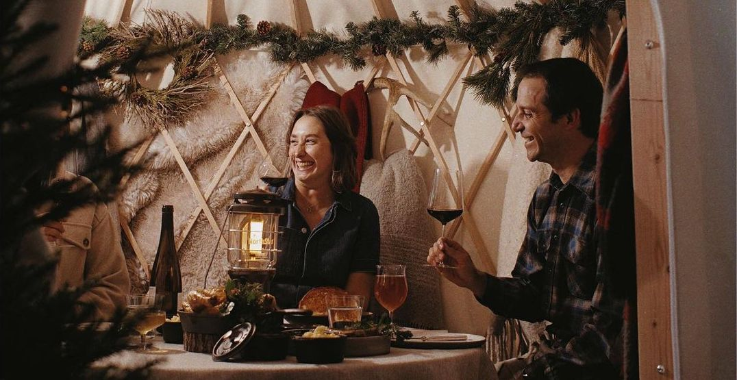 Eat a festive dinner in a private yurt at Canlis Seattle