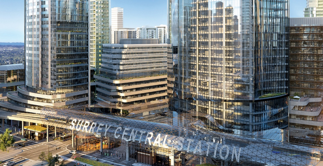 Massive SFU expansion and office towers proposed for Surrey Central Station (RENDERINGS)