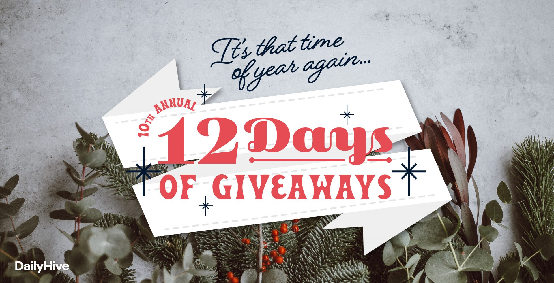 $50,000 in prizes up for grabs in our 10th annual 12 Days of Giveaways