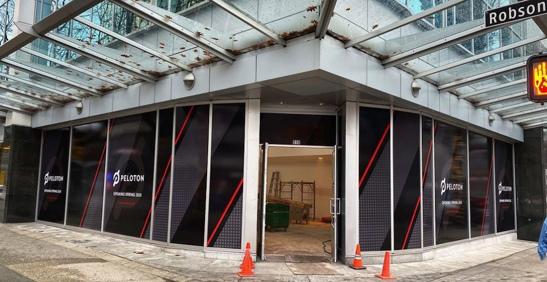 Peloton opening new flagship store location on Robson Street