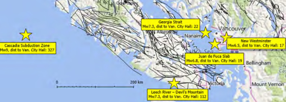 vancouver earthquake map fire risk