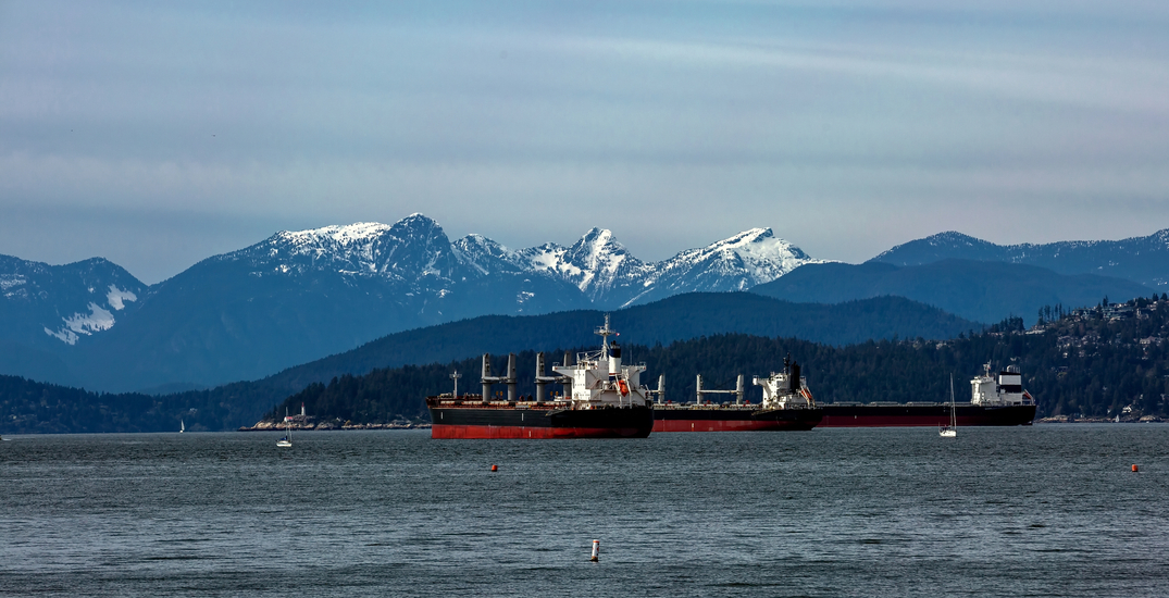 This is what's on those big tanker ships in Vancouver's harbour
