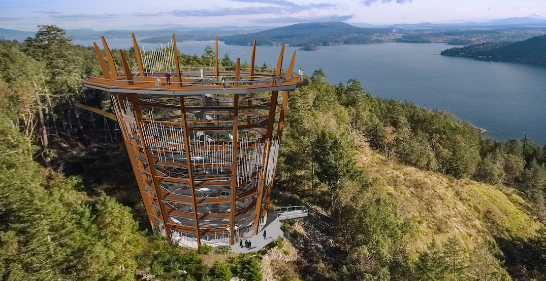 New spiral Skywalk attraction to open on Vancouver Island in Spring 2021