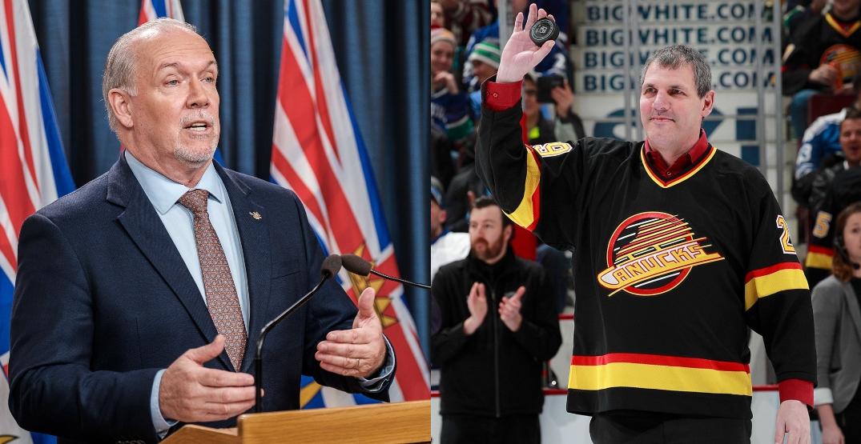 John Horgan joins Gino Odjick Canucks Ring of Honour movement