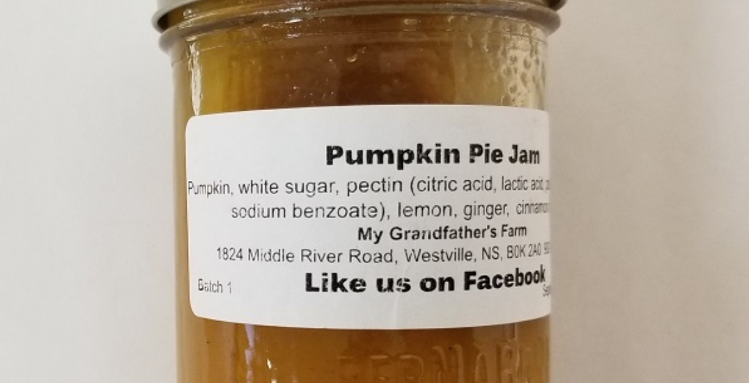 Health Canada recalls brand of pumpkin pie jam because it may cause botulism
