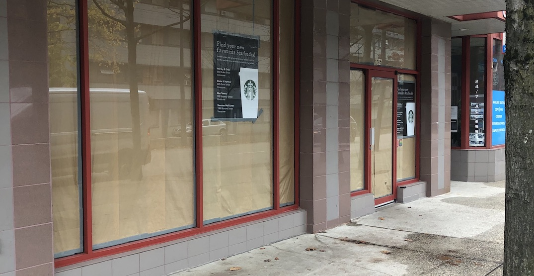 Another Starbucks in downtown Vancouver has closed