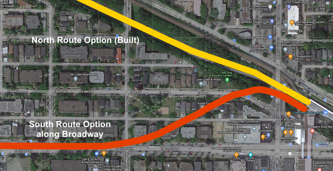 What if SkyTrain's Millennium Line continued under Broadway west of Commercial Drive?