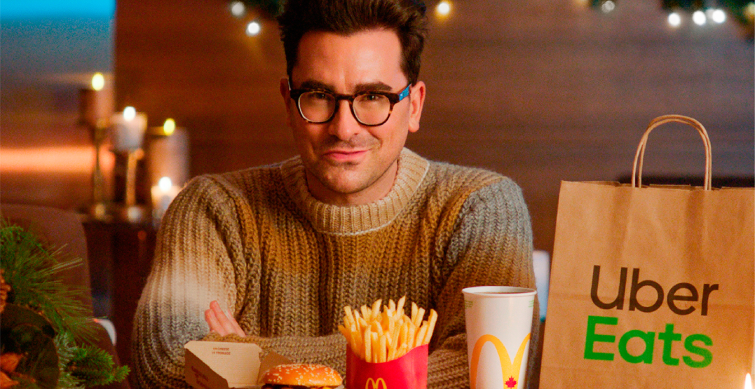 Dan Levy partners with Uber Eats and McDonalds to spread holiday cheer